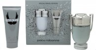 Paco Rabanne Invictus Gift Set 100ml EDT + 100ml All Over Shampo