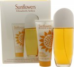 Elizabeth Arden Sunflowers Gavesæt 100ml EDT + 100ml Body Lotion