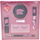 Betty Boop Gavesæt Falske Vipper + Lim + Eye Liner + Blyantspidser + Spejl + Læbeforsegler + Læbestift