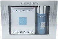 Azzaro Chrome Gavesæt 50ml EDT + 150ml Deodorant Spray