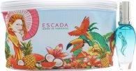 Escada Born In Paradise Gavesæt 30ml EDT Spray + Toilet Taske