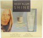 Heidi Klum Shine Gavesæt 15ml EDT + 75ml Body Lotion