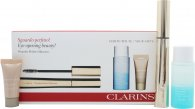 Clarins Wonder Perfect Gavesæt 7ml Mascara 01 Black + 30ml Instant Eye Make-Up Remover + 5ml Instant Concealer