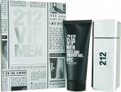 Carolina Herrera 212 VIP Men Gavesæt 100ml EDT + 100ml Body Shower Gel
