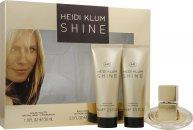Heidi Klum Shine Gavesæt 30ml EDT + 75ml Body Lotion + 75ml Shower Gel