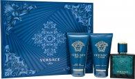 Versace Eros Gavesæt 50ml EDT + 50ml Aftershave Balm + 50ml Shower Gel