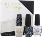 OPI Neglelak Sheer To The Top Gavesæt 15ml Top Coat + 15ml Matte Top Coat + 15ml So Elegant