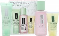 Clinique 3-Step Skincare Gavesæt 50ml Liquid Facial Soap Oily Skin Formula + 100ml Clarifying Lotion 3 Combination Oily + 30ml Dramatically Different Moisturizing Gel Combination Oily To Oily