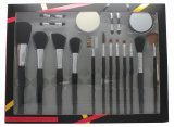 Active Cosmetics Professional Cosmetics Makeupsæt 4 Applikatorer + Makeup Svamp + Spejl + 12 Børster