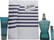 Jean Paul Gaultier Le Male Gavesæt 125ml EDT + 75ml All-Over Shower Gel + 9ml Taske Spray