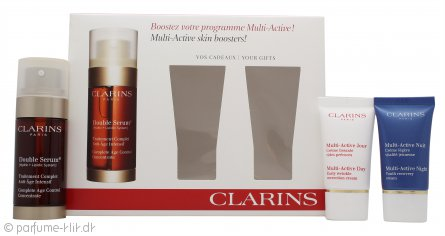 clarins gaves t 30ml double serum 15ml early wrinkle correction cream 15ml night recovery cream. Black Bedroom Furniture Sets. Home Design Ideas