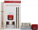 Clarins Perfect Eyes Extra Firming Gavesæt 15ml Extra Firming Eye Wrinkle Smoothing Cream + 7ml Wonder Perfect Mascara + 4ml Instant Smooth Perfecting Touch