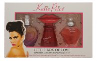 Katie Price Little Box of Love Gavesæt 30ml Besotted EDP + 30ml Kissable EDP + 30ml Precious Love EDP