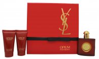 Yves Saint Laurent Opium Gavesæt 50ml EDT + 50ml Body Lotion + 50ml Shower Gel
