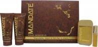 Eden Classic Mandate Gavesæt 100ml EDT Spray + 15ml EDT Spray Mini + 150ml Aftershave Balm + 150ml Bath & Shower Gel