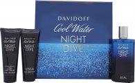 Davidoff Cool Water Night Dive Gavesæt 125ml EDT + 75ml Shower Gel  + 75ml Aftershave Balm