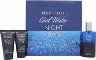 Davidoff Cool Water Night Dive Gavesæt 75ml EDT + 50ml Shower Gel + 50ml Aftershave Balm