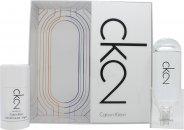 Calvin Klein CK2 Gavesæt 100ml EDT + 75ml Deodorant Stick