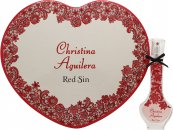 Christina Aguilera Red Sin Gavesæt 30ml EDP + Tin Hjerte Boks
