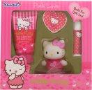Hello Kitty Pink Love Gavesæt 50ml Body Lotion + 20g Bath Fizzer + 4.5g Læbepomade