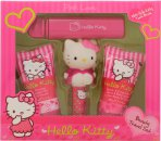 Hello Kitty Pink Love Gift Set 30ml Body Lotion + 30ml Shower Gel + 4.5g Læbepomade + Frugtagtig Duft