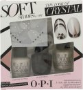 OPI Nail Polish The Look of Crystal Soft Shades Gavesæt 15ml Chiffon My Mind + 15ml Black Onyx + 15ml This Silver's Mine! + Swarovski Crystals + 2g Nail Glue