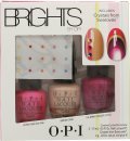 OPI Nail Polish Brights Gavesæt 15ml Hotter Than You Pink + 15ml Samoan Sand + 15ml The Berry Thought of You + Crystals from Swarovski + 2g Nail Glue
