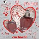 Cacharel Amor Amor My First Kiss Gavesæt 50ml EDT + 50ml Body Lotion + 7ml Lipgloss