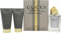 Gucci Made to Measure Gavesæt 90ml EDT Spray + 50ml Aftershave Balm + 50ml All Over Shampoo