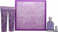 Jesus del Pozo Halloween Gavesæt 100ml EDT + 150ml Body Lotion + 150ml Shower Gel + 4.5ml EDT