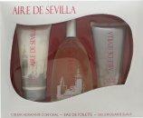 Instituto Español Aire de Sevilla Gavesæt 150ml EDT Spray + 150ml Exfoliant Gel + 150ml Body Cream