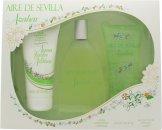 Instituto Español Agua Fresca de Azahar Aire de Sevilla Gavesæt 150ml EDT Spray + 150ml Exfolierende Gel + 150ml Body Cream