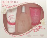 Instituto Español Aire de Sevilla Agua de Rosas Frescas Gavesæt 150ml EDT Spray + 150ml Shower Gel + 150ml Body Cream