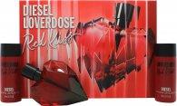 Diesel Loverdose Red Kiss Gavesæt 50ml EDP + 2 x 50ml Body Lotion
