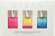 Clean Summmer Layering Trio Gavesæt 15ml Summer Sun EDP + 15ml Summer Sailing EDP + 15ml Summer Escape