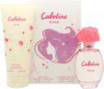 Gres Parfums Cabotine Rose Gavesæt 100ml EDT + 200ml Body Lotion