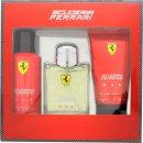 Ferrari Scuderia Ferrari Red Gavesæt 125ml EDT + 150ml Deodorant Spray + 150ml Hår & Krops Sæbe