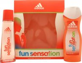 Adidas Fun Sensation Gavesæt 75ml EDT + 250ml Shower Gel