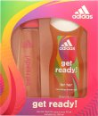 Adidas Get Ready! For Her Gavesæt 75ml EDT + 250ml Shower Gel