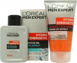 L'Oreal Men Expert Hydra Energetic Kick Start Kit Gavesæt 150ml Ice Cool Face Wash + 100ml Ice Cool Post Shave Gel