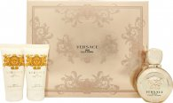 Versace Eros Pour Femme Gavesæt 50ml EDP + 50ml Body Lotion + 50ml Shower Gel