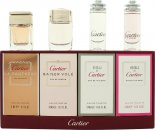 Cartier Miniatures Gavesæt 6ml Eau de Cartier Goutte de Rose EDT + 5ml Eau de Cartier EDT + 5ml Cartier Baiser Vole EDP + 6ml Cartier La Panthere EDP