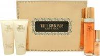 Elizabeth Taylor White Diamonds Gavesæ 30ml EDT + 3.7ml Parfum +  28g Satin Body Talc