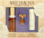 Elizabeth Taylor White Diamonds Gavesæ 30ml EDT + 3.7ml Parfum +  28g Satin Body Talc