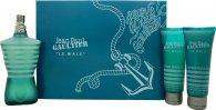 Jean Paul Gaultier Le Male Gavesæt 125ml EDT + 75ml Shower Gel + 75ml Aftershave Balm
