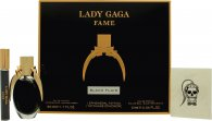 Lady Gaga Fame Gift Set 50ml EDP + 10ml Roller Ball + Tatovering