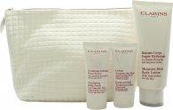 Clarins My Winter Essentials Gavesæt 200ml Body Lotion + 30 Body Scrub + 30ml Hand Cream + Travel Case