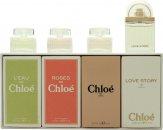 Chloé Miniatures Gavesæt 5ml L'eau de Chloé EDT + 5ml Roses De Chloé EDT + 5ml Chloé EDP + 7.5ml Love Story EDP