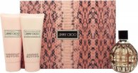 Jimmy Choo Gavesæt 100ml EDP + 100ml Body Lotion + 100ml Shower Gel