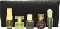 Estee Lauder Mini Set Gavesæt 4ml Pleasures + 4ml Moderne Muse + 4.7ml Beautiful + 4ml Sensuous Nude + 4ml Pure White Linen + Cosmetics Bag